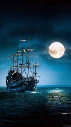 Finding the Right Vessel At Boat Shows Pirate Art, Pirate Ships, Pirate Crafts, Space Pirate, Old Sailing Ships, Ship Paintings, Shoot The Moon, Ghost Ship, Moon Pictures