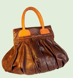 79051a6870aa Large Leather Handbag   Brown Pebble