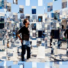 """Cubism made real - """"Ring II"""" Installation by Arnaud Lapierre, photo: Thomas Louapre Paris France, Instalation Art, Artistic Installation, Mirror Art, Mirrors, Exhibition Space, Landscape Architecture, Classical Architecture, Ancient Architecture"""