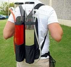 The dual drink backpack might as well be called the inebriator 9000 as it's essentially a portable bar that's easily carried on the back. Strap on this bad boy, and you'll instantly become the most popular person at the party, tailgate, or whatever social gathering you find yourself in. Since staying properly hydrated is key…