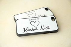 Personalized Phone Cases Couples Matching Silicone by hhprint, $37.99