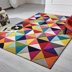 Spectrum samba multicoloured rugs buy online from the rug seller uk