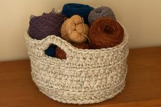 Chunky Crocheted Basket: free pattern