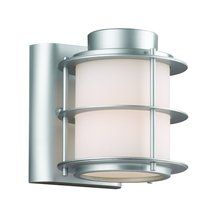 """View the Forecast Lighting F8496 6"""" Single Light Outdoor Wall Sconce with Etched White Glass from the Hollywood Hills Collection at LightingDirect.com."""