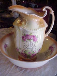 pitcher basin sets on pinterest water pitchers bowls and porcelain. Black Bedroom Furniture Sets. Home Design Ideas