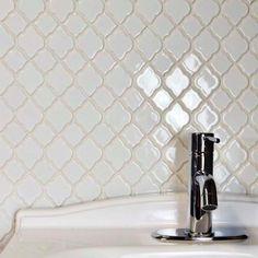 Merola Tile Tunis White 10-1/2 in. x 10-1/2 in. x 7 mm Ceramic Mosaic…