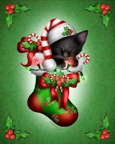 Melissa Dawn Melissa Dawn Art on Pinterest | Christmas Cats, Black Cat Art and ...