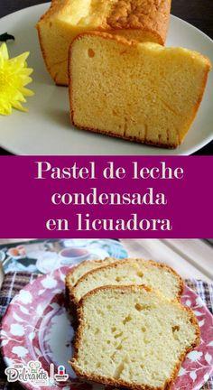 Prepara este rápido y sencillo pastel de leche condensada en licuadora, queda esponjoso, suave y con un rico sabor a limón. ¡Te encantará!