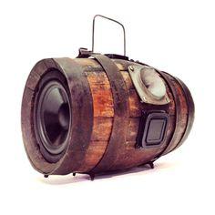 Vintage Water / Wine Barrel Turned BoomCase - BoomBox - #BoomCase #BoomBox #Audio