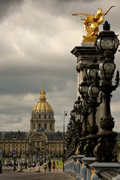 Pont Alexandre III, Paris, France.  Go to www.YourTravelVideos.com or just click on photo for home videos and much more on sites like this.