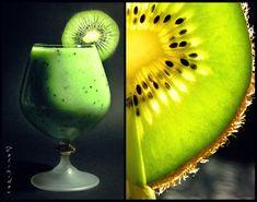 Зелёный смузи из киви и банана