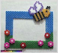Spring photo frame perler beads