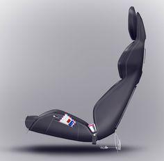 Volvo Concept Coupe, 2013 - Interior Design Sketch - Seat Design