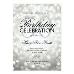 Elegant 50th Birthday Party Silver Glitter Lights