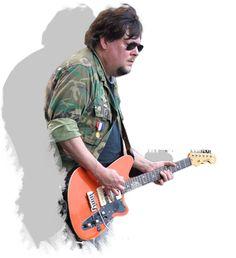 Ron Asheton playing guitar