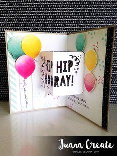 Juana Ambida: Party with Cake Pop up Birthday card