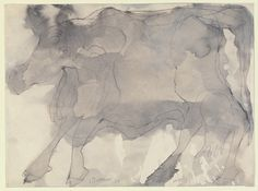 Jean Dubuffet. Cow. (December) 1954 ink on paper