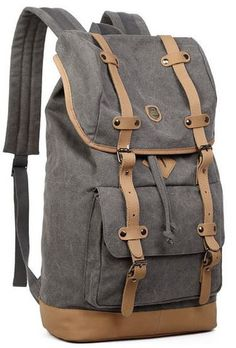 Canvas Travel Laptop School Backpack #Travelbag
