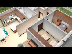 Discover recipes, home ideas, style inspiration and other ideas to try. Small Room Design Bedroom, American Kitchen, Apartment Design, 3 D, House Plans, House Design, How To Plan, Mansions, House Styles