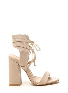 Featured Model Faux Suede Chunky Heels GoJane.com