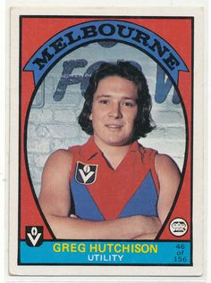 SCANLENS 1978 VFL AFL FOOTY CARD GREG HUTCHISON MELBOURNE DEMONS 46 FOOTBALL au.picclick.com Football Cards, Football Players, Baseball Cards, Australian Football, Player Card, Melbourne, The Past, Club, Demons