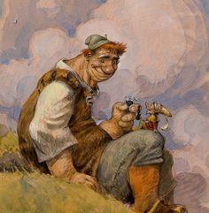 Color Giant and Gnome Concept Sketch - Peter de Seve