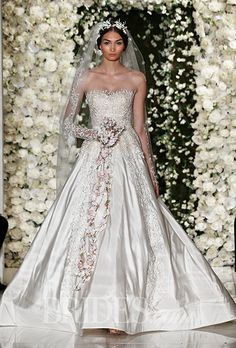 An utterly romantic, glamorous #weddingdress from @reemacra | Brides.com