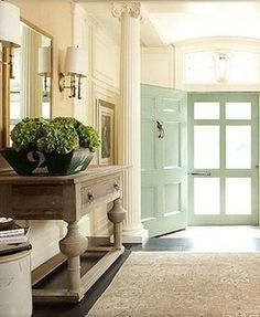 .love the color on the door