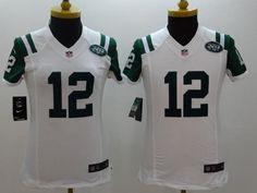 "$23.88 at ""MaryJersey"" (maryjerseyelway@gmail.com) #12 Joe Namath - Nike Jets White Women Stitched NFL Limited Jersey- MARY JERSEY -women, men, youth sizes"