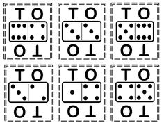 Children flip dominoes and set them as numbers in place value. These can be cut apart and used in a variety of engaging and motivating math games.