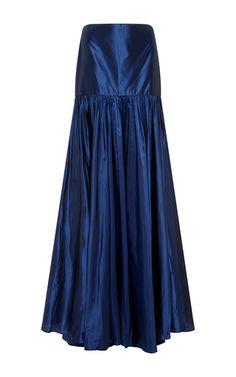 This **Johanna Ortiz** skirt features a pleated construction and a floor length hem.
