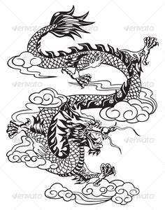 chinese dragon — Vector EPS #animal #dragon • Available here → https://graphicriver.net/item/chinese-dragon/63337?ref=pxcr
