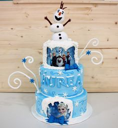 Olaf como protagonista en la tarta de Frozen.