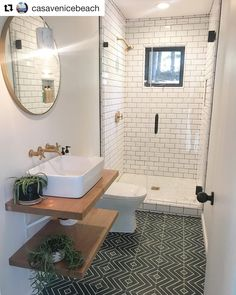 What day you love most about this bathroom renovation by Only down side is that it's a guest bathroom and your guest may… New Bathroom Ideas, Bathroom Inspiration, Restroom Ideas, Bathroom Design Luxury, Bathroom Design Small, Bathroom Renos, Bathroom Renovations, Upstairs Bathrooms, Shower Remodel