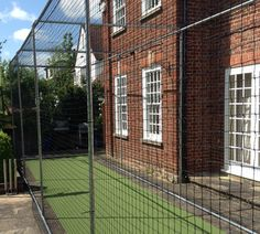 A superb quality freestanding steel cricket cage that requires simple steel cage assembly to form a robust outdoor structure for cricket batting use. Single lane with a choice of length options. Ideal for home use as a less permanent installation cricket cage system. It can also be removed and relocated as required. 3m Tall x 3m wide with 6m, 9m, 12m, 15m and 18m length options. Netting is a cricket specific 50mm black nylon mesh made to16Z cricket net spcecifications.