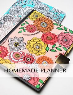 simple homemade planner