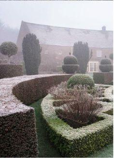 winter in parkhead garden scotland
