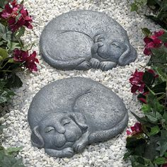Sleeping Cat Stepping Stone Facing Left For The