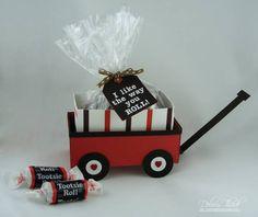 Hey tootsie, I like the way you roll - candy treat holder