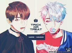 BTS Fanart || Kim Taehyung (V) | Halloween! AU Vampire x Suicidé Squad