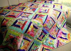 Carnival String Quilt - complete by twinfibers, via Flickr