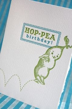 Such a witty letter-pressed birthday card!
