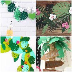 Ideias de Decoração para Festa Tropical | Como fazer em casa | Bloglovin' Diy For Kids, Crafts For Kids, Lion King Birthday, Hawaiian Theme, Tropical Party, 25th Birthday, Diy Chair, Paper Flowers, Party Themes
