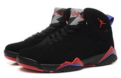 Nike Air Jordan 7 Retro Black Red Men Shoes