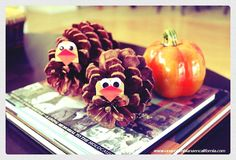 Decorating with Pine cones: Turkey pine cone #craft #fall