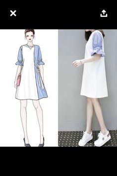 Korean Fashion – How to Dress up Korean Style – Designer Fashion Tips Cute Fashion, Asian Fashion, Look Fashion, Hijab Fashion, Fashion Art, Girl Fashion, Fashion Dresses, Womens Fashion, Fashion Trends