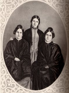 The Fox sisters, mediums who helped bring about the Spiritualism movement