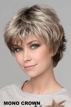 hair short Ellen Wille Wigs - Club 10 Who Is Dr. Short Hairstyles For Thick Hair, Haircut For Thick Hair, Short Pixie Haircuts, Bob Hairstyles, Curly Hair Styles, Simple Hairstyles, Spring Hairstyles, Pretty Hairstyles, Thin Hair Cuts