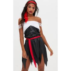 Sexy Pirate Girl Fancy Dress Costume ($27) ❤ liked on Polyvore featuring costumes, black, fancy costumes, pirate halloween costumes, sexy pirate costume, fancy halloween costumes and sexy pirate halloween costume
