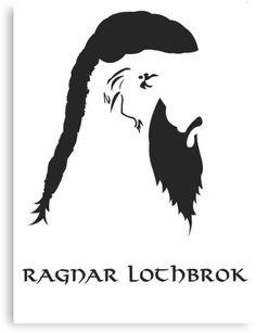 Tee shirt vikings t te de vikings logo vikings for Ragnar head tattoo stencil